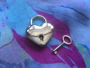 Rianne S Moon heart padlock.