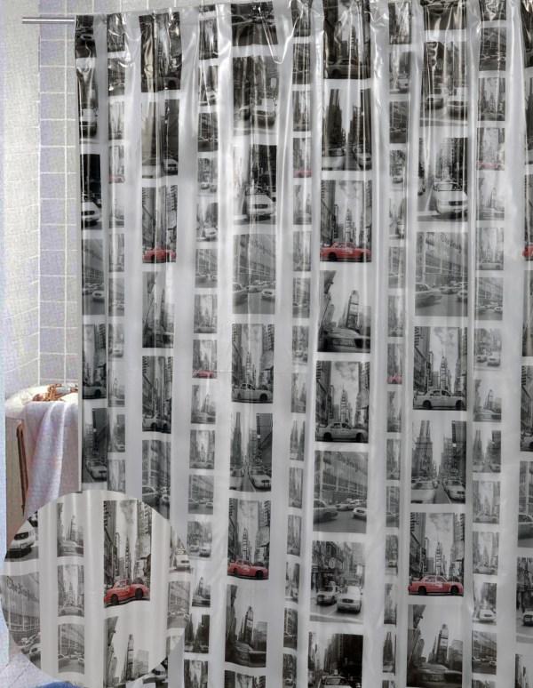 New York Vinyl Shower Curtain