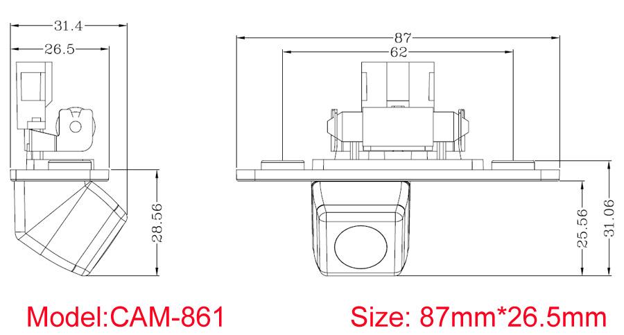 Reverse Camera for Skoda Octavia 2011 2012 2013