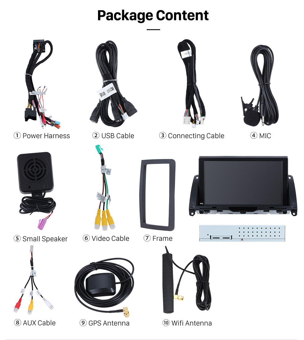 hight resolution of mercedes benz c class 2007 2014 w204 with ntg4 radio upgrade