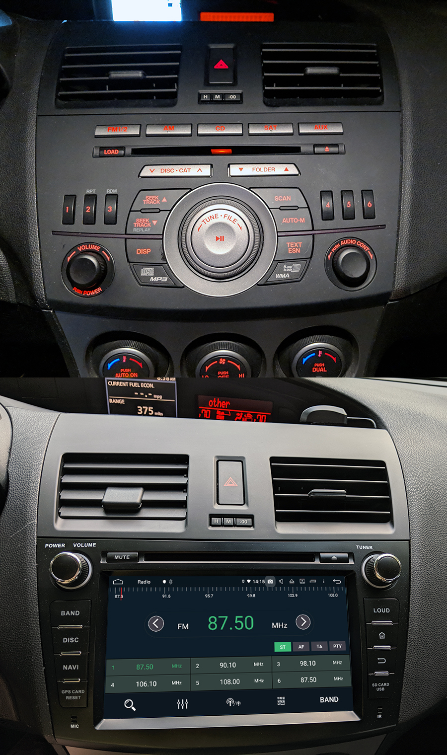 medium resolution of mazda 3 android aftermarket navigation autoradio