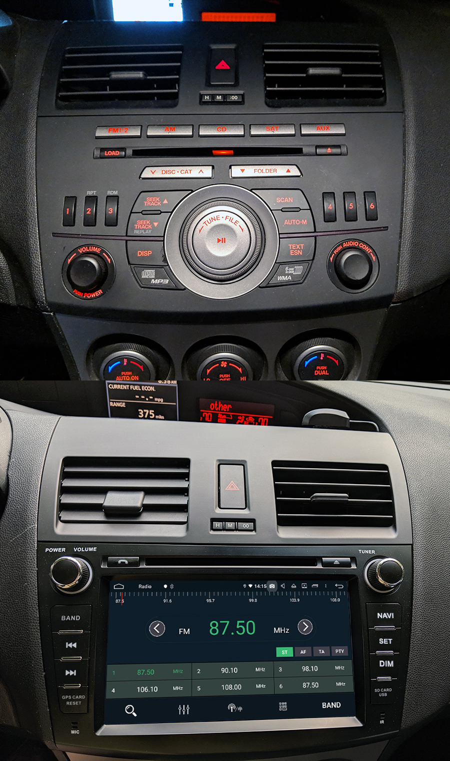 hight resolution of mazda 3 android aftermarket navigation autoradio