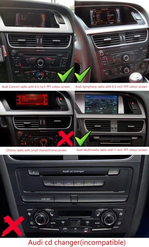 small resolution of audi a4 a5 b8 factory radio
