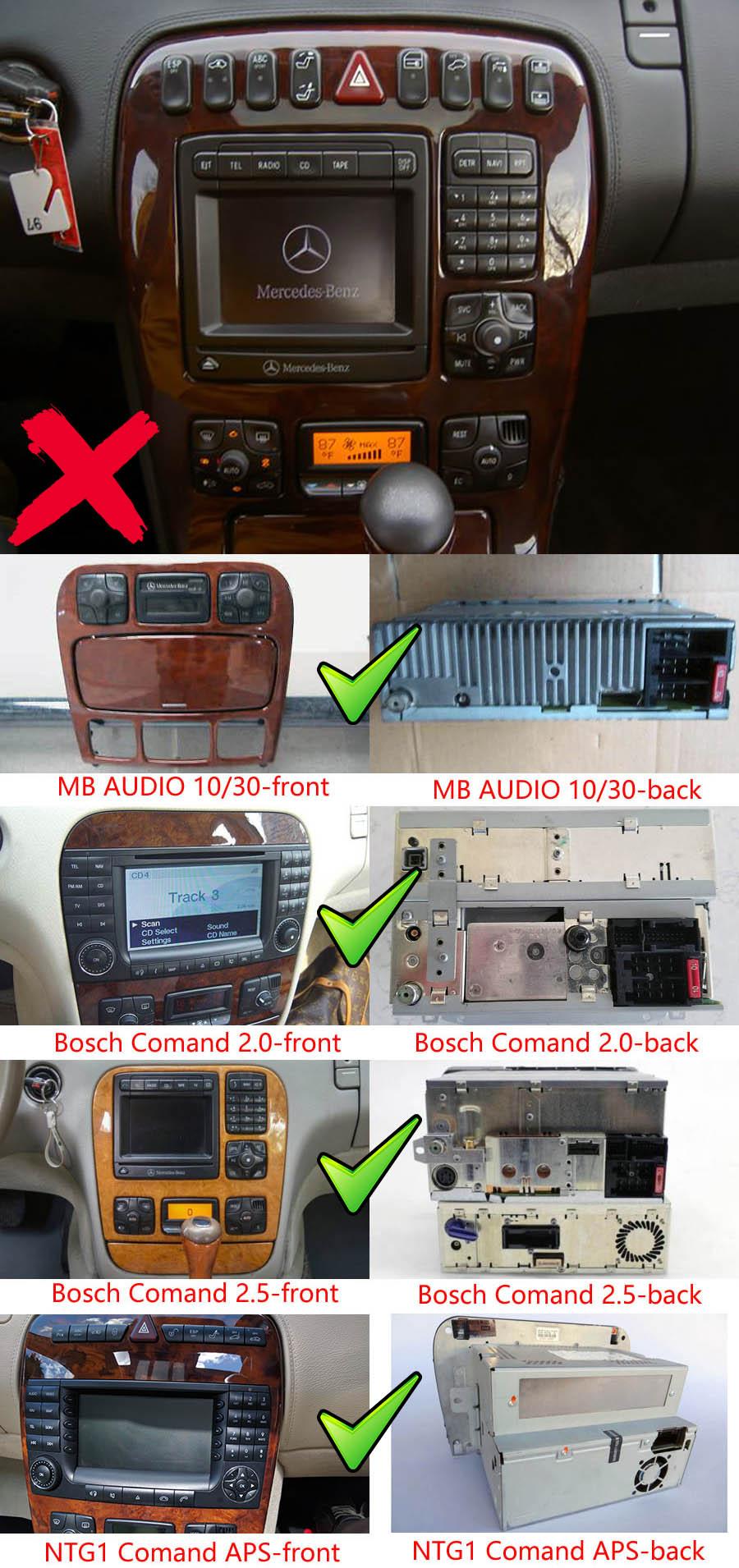 medium resolution of mercedes benz cl w215 s w220 aftermarket navigation player