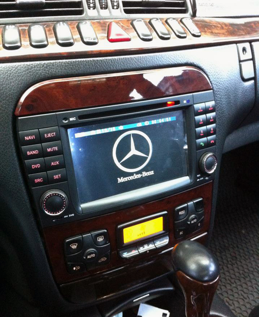 medium resolution of mercedes benz s w220 aftermarket navigation player