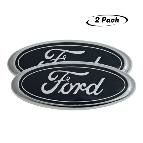 "2004-2014 Ford F150 Front Grille Tailgate Emblem, Oval 9""X3.5"", Decal Badge Nameplate Also Fits for 04-14 F250 F350, 11-14 Edge, 11-16 Explorer, 06-11 Ranger, 07-11 Expedition"