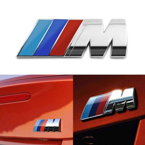 Badge Tri Color For All BMW M Rear Emblem Car Decal Logo Sticker