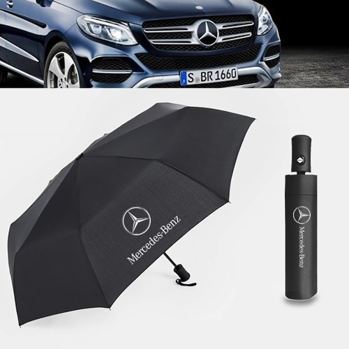 Fully Automatic Sport Open Large Folding Black Umbrella Windproof Sunshade with Car Logo for Mercedes Benz Umbrella