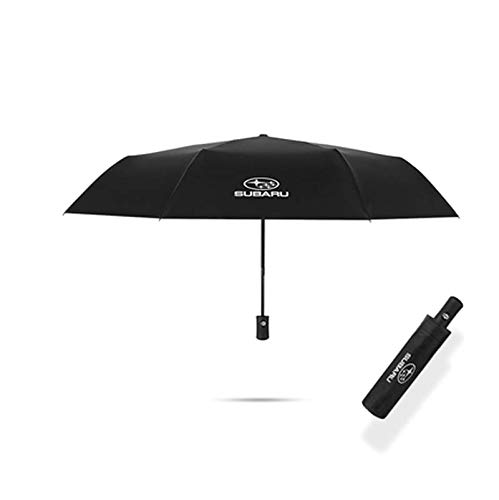 Auto Sport AUTO Open Large Folding Umbrella Windproof Sunshade with Car Logo Fit Subaru Accessory