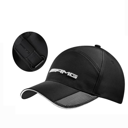 Mercedes Benz Structured Black AMG Hat w/Carbon Fiber Details