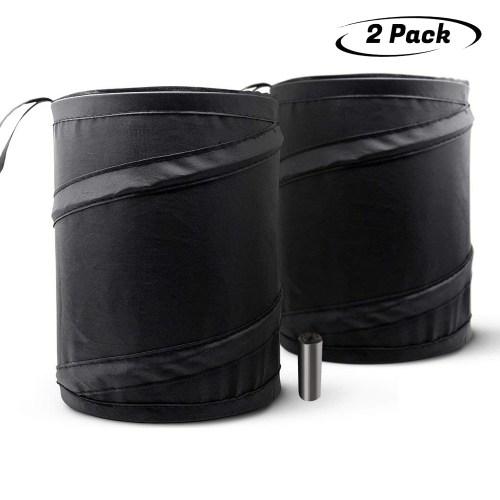 2Pcs Portabil Trash Can for a Car, Portable Garbage Bin, Collapsible Pop-up Water Proof Bag, Waste Basket Bin, Rubbish Bin