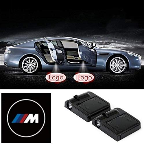 2 Pcs Wireless Car Door Led Welcome Laser Projector BMW M Light Ghost Shadow Light Lamp Logos