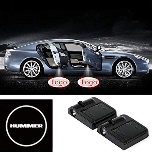 2 Pcs Wireless Car Door Led Welcome Laser Projector Hummer Light Ghost Shadow Light Lamp Logos
