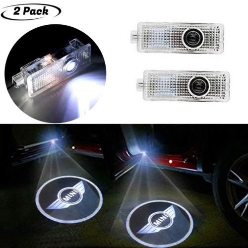 2PCS Mini Car Door Welcome Lights Projector, LED Car Projection Shadow Light Laser Emblem Logo Lamps Kit for Copper
