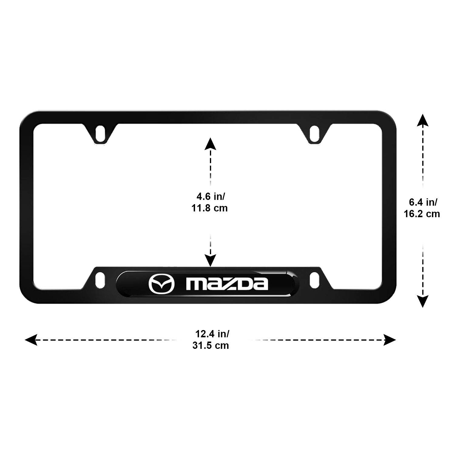 2X Ford EDGE Stainless Steel License Plate Frame Rust Free W// Caps
