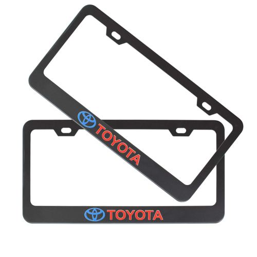 2 Pack Car License Plate Frames for Toyato,Matte Aluminum Auto Plate Frames, Will Fit Standard US Plates,Includes Installation Tools and Accessories