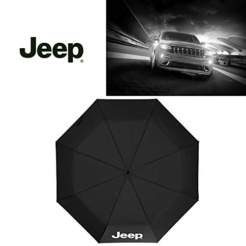 Auto Sport AUTO Open Large Folding Umbrella Windproof Sunshade with Car Logo (Jeep)