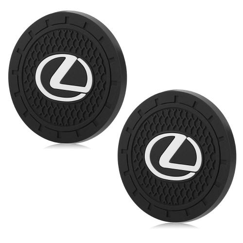 Auto sport 2.75 Inch Diameter Oval Tough Car Logo Vehicle Travel Auto Cup Holder Insert Coaster Can 2 Pcs Pack Fit Lexus Accessory