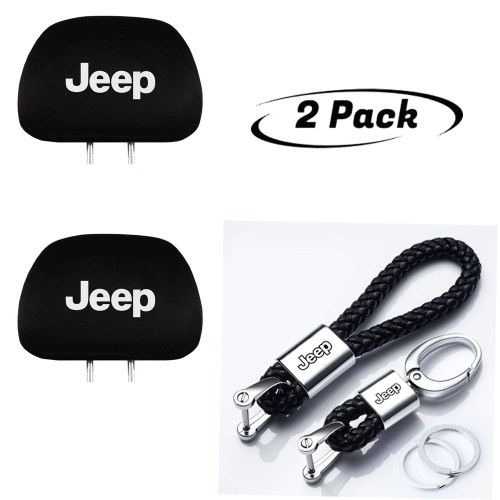 Headrest Cover Set works on every car,a perfect compliment to enhance the Interior of your For Jeep. Keychain for Jeep is of high quality and the metal part is made of new high strength alloy.