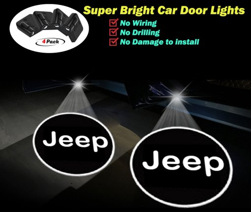 JEEP door lights logo