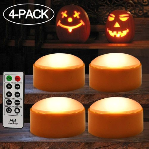 HOME MOST 2-Pack Halloween Pumpkin Lights with Remote/Timer - Orange Pumpkin Lights LED Battery Operated Halloween Decor - Halloween Jack-O-Lantern Outdoor Pumpkin Decorations - LED Lights Halloween