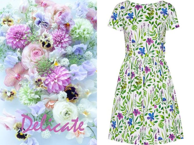 OSCAR DE LA RENTA Floral-print stretch cotton dress £730