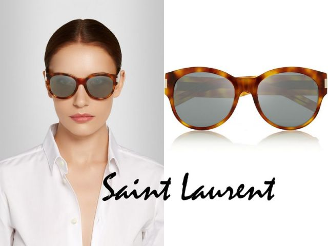 SAINT LAURENT Oversized round-frame acetate sunglasses mirored £200