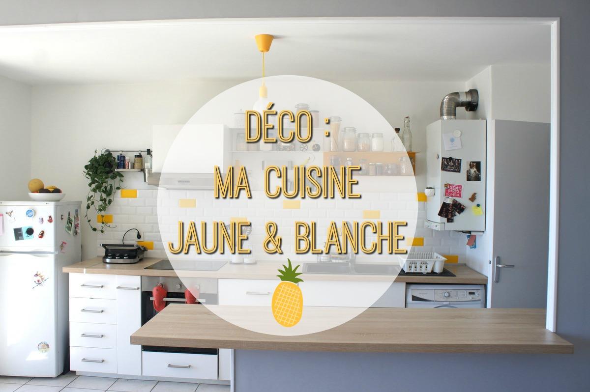 Déco : ma cuisine jaune et blanche  Carnet Lyonnais