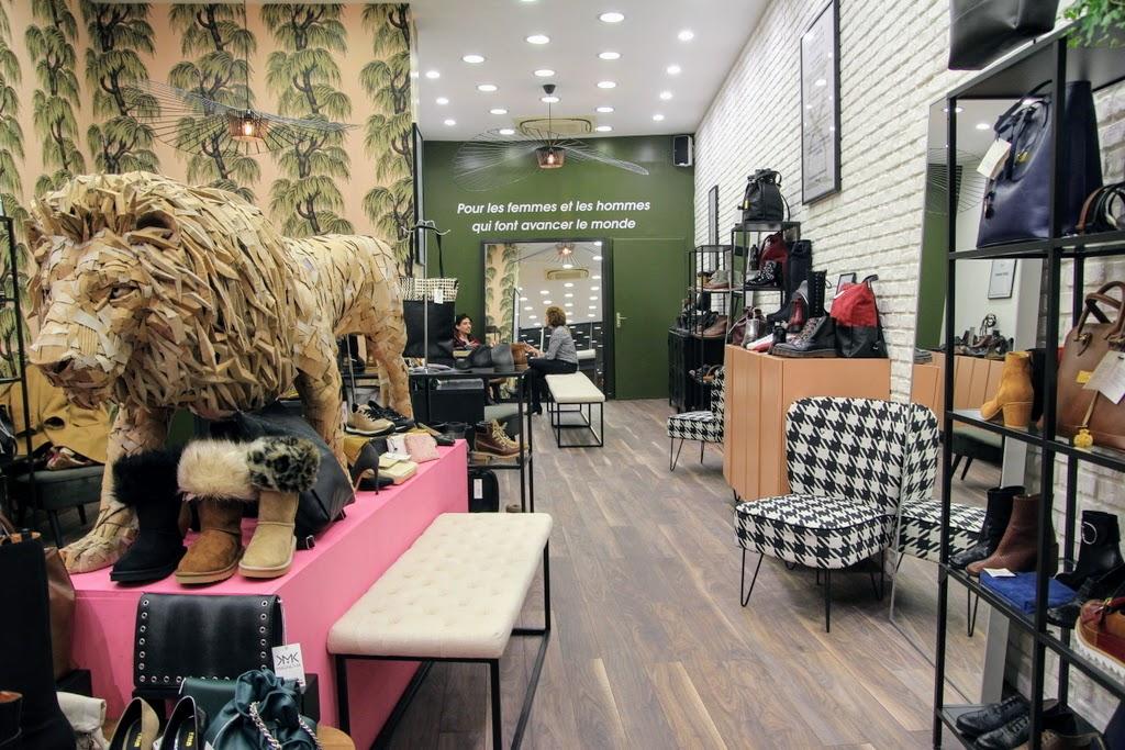 photo du magasin de chaussures véganes et maroquinerie en cuir végétal Good Behavior à Lyon rue Victor Hugo