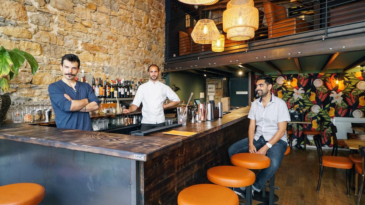 L'équipe de Sauvage Cocktails à Lyon