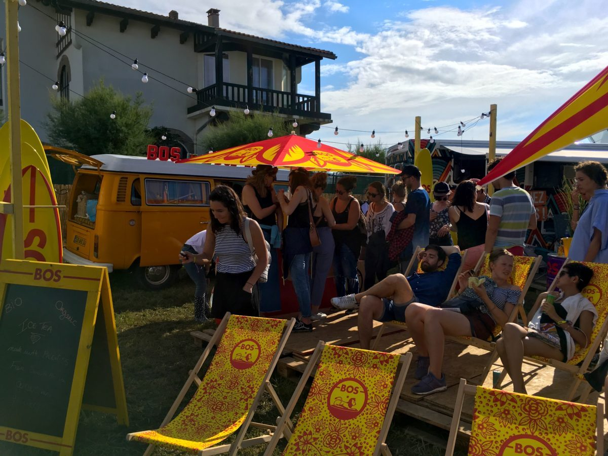 Chill à Biarritz en été
