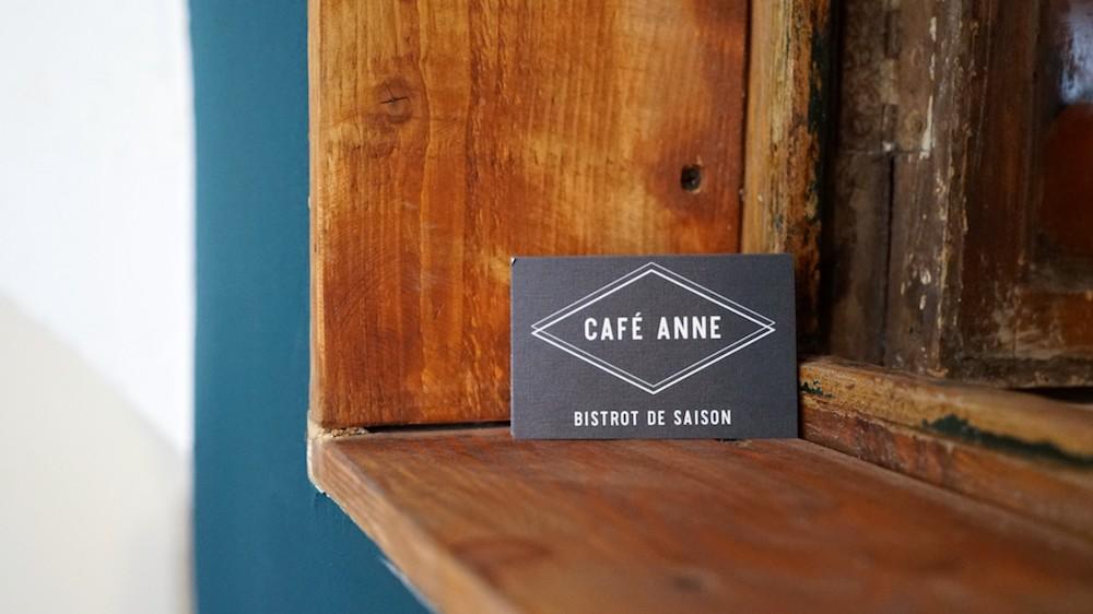 carte de visite café anne