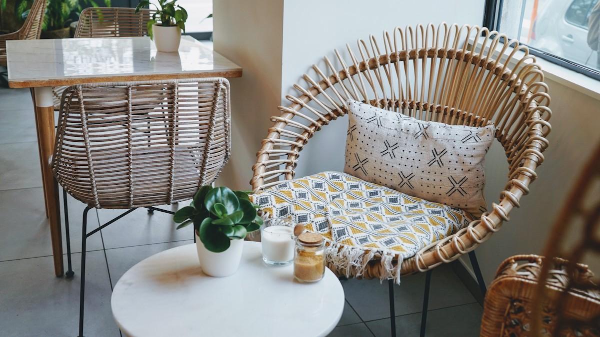 fauteuil en osier lyon