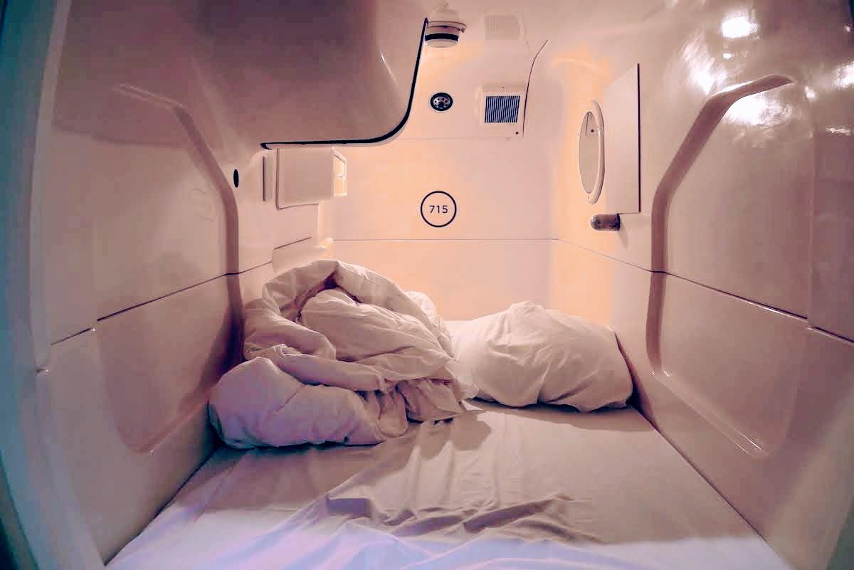 Dormir dans un capsule hotel a Tokyo