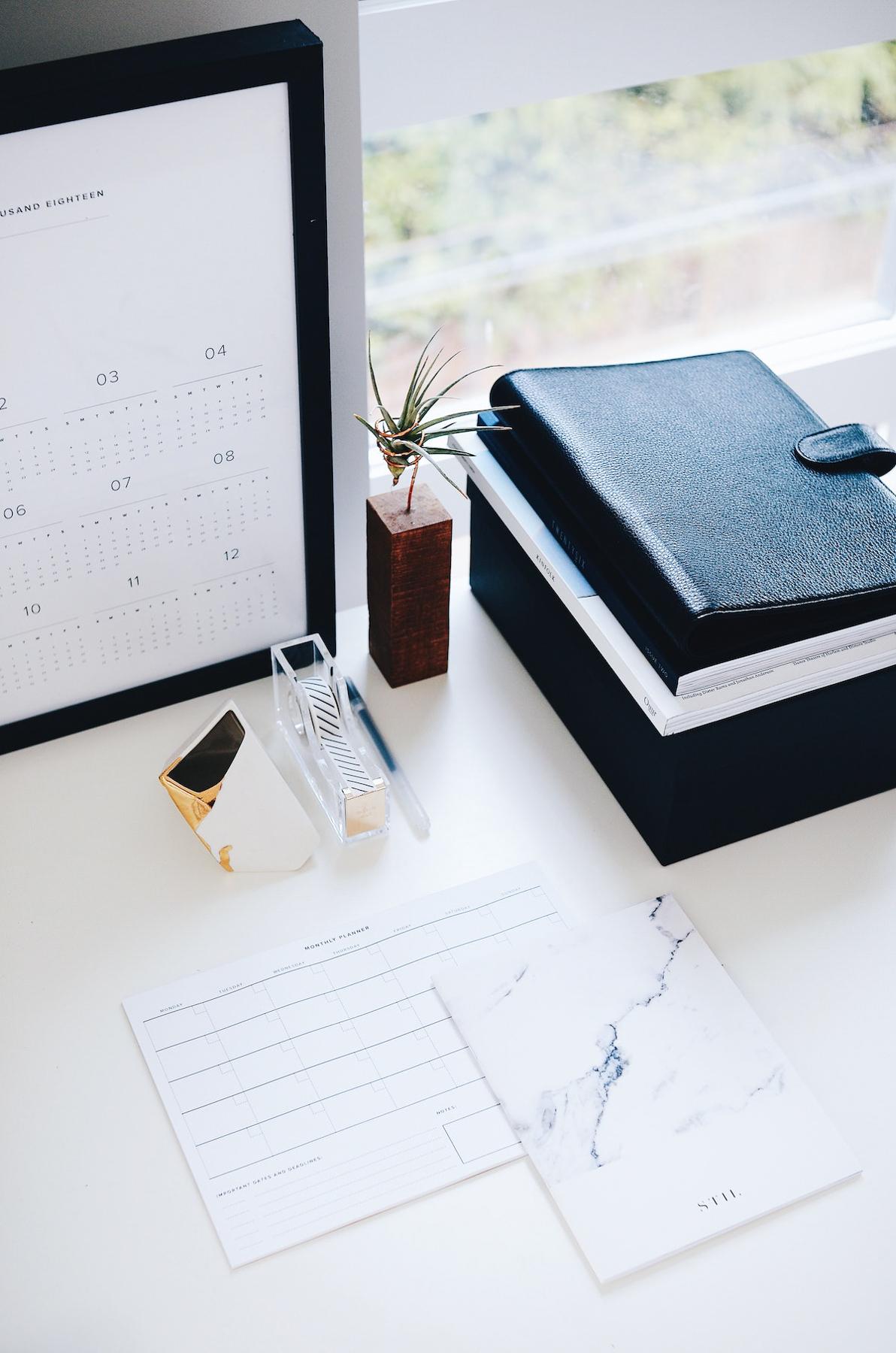 agenda et carnet de note organisation