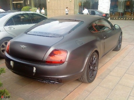 Matte-black Bentley Continental Supersports