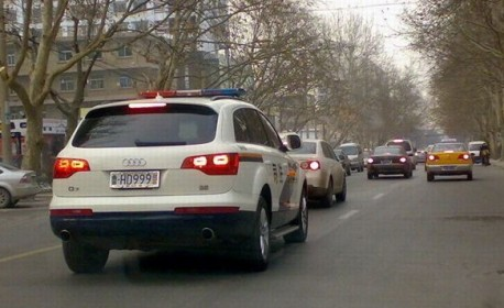 Audi Q7 police car from China