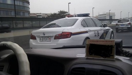 BMW police car China