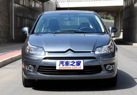 new Citroen C4 sedan all-naked in China