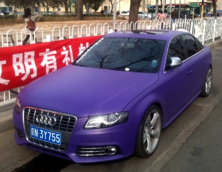Audi S4 in matte-purple