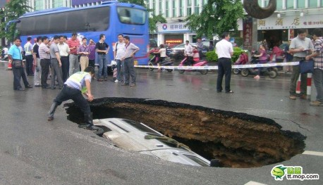 Freak Accident in China