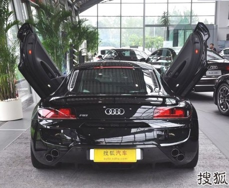 ABT Audi R8 V10 with Lambo-doors in China
