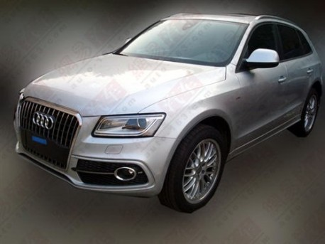 facelifted Audi Q5 testing in China