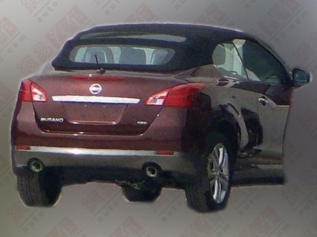 Nissan Murano CrossCabriolet testing in China