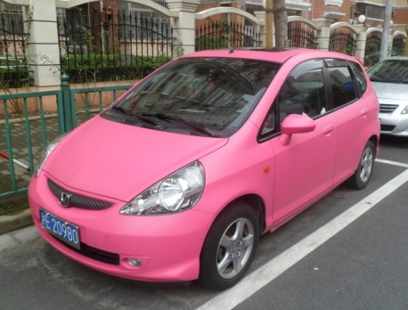 Honda Fit is Pink in China