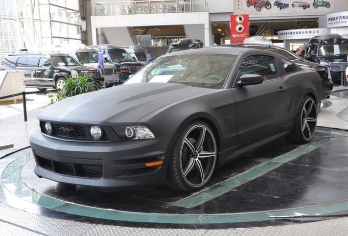 Matte Black Ford Mustang In China Carnewschina Com