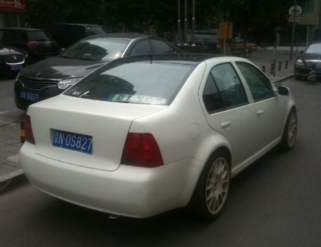 white & sporty Volkswagen Bora
