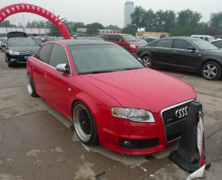 An Audi A4L is very Red in China