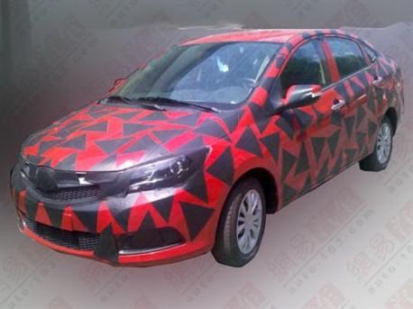 Haima V30 sedan testing in China