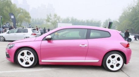 Volkswagen Scirocco in Pink in China